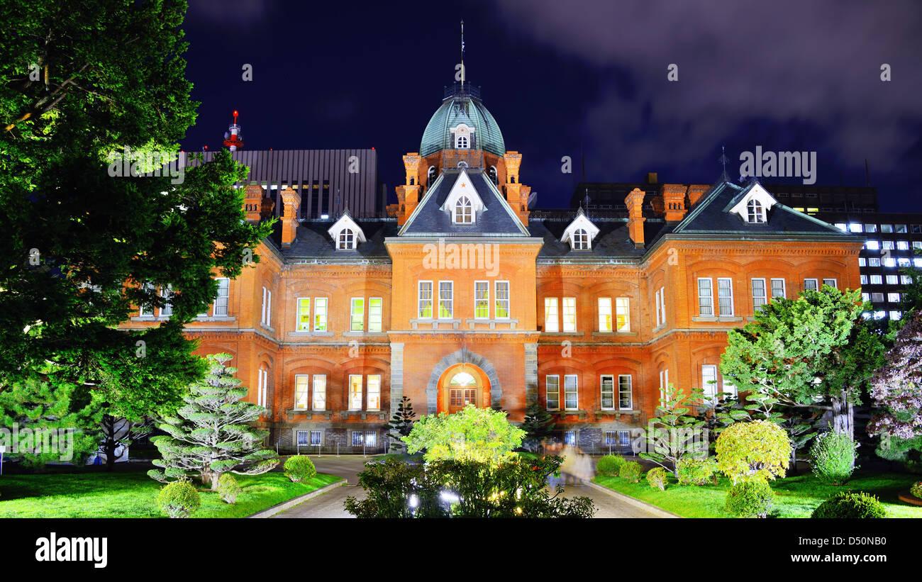 Ehemalige Hokkaido Regierungsamt in Sapporo, Japan. Stockbild