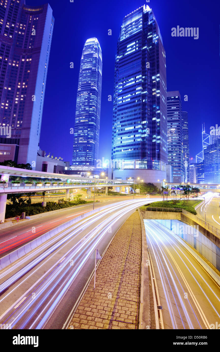 Internationale finanzielle Zentrum von Hongkong Stockbild