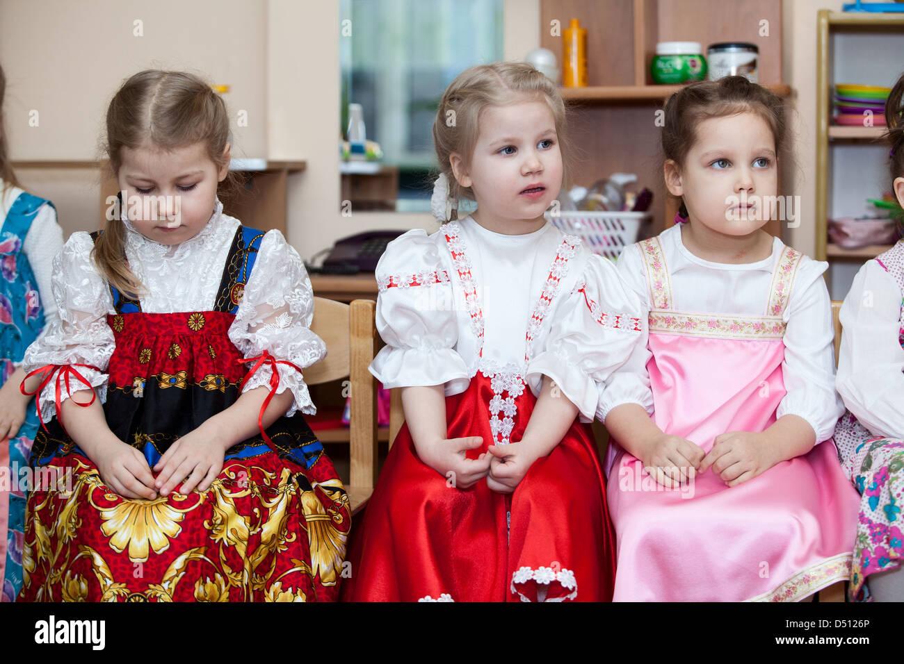 Mädchen auf Russisch