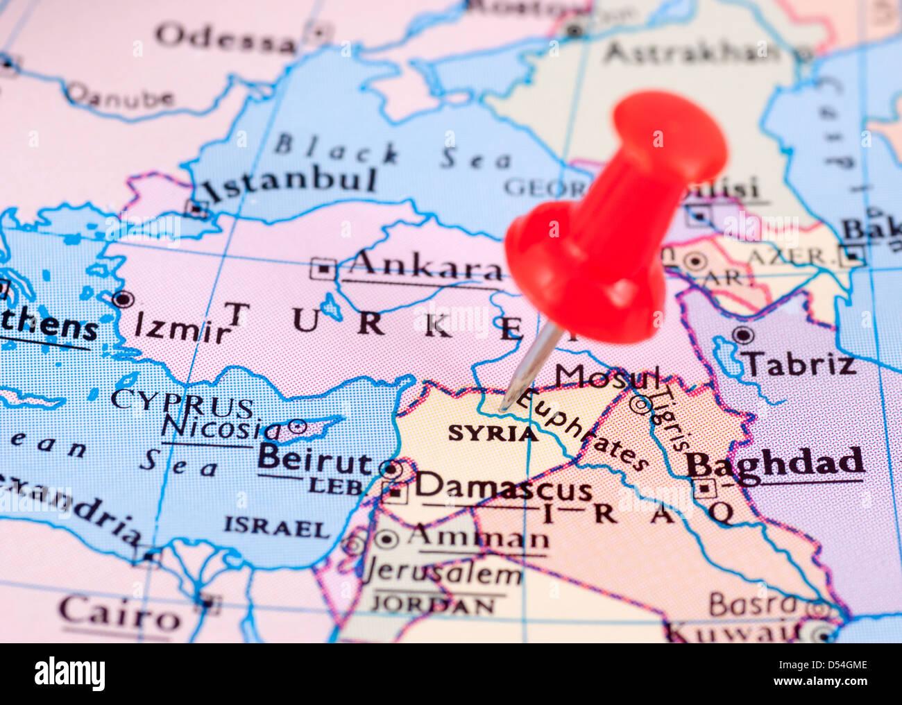 Map Cyprus Syria Turkey Stockfotos & Map Cyprus Syria Turkey Bilder ...