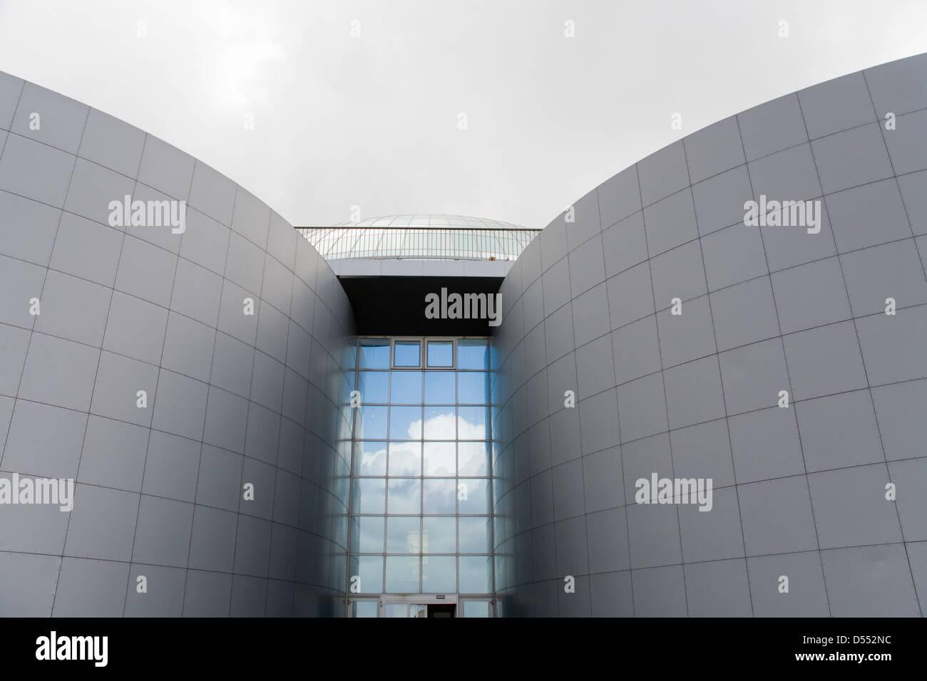 Island Reykjavik Warmwasser Speicher Tank Wahrzeichen die Perle Stockbild