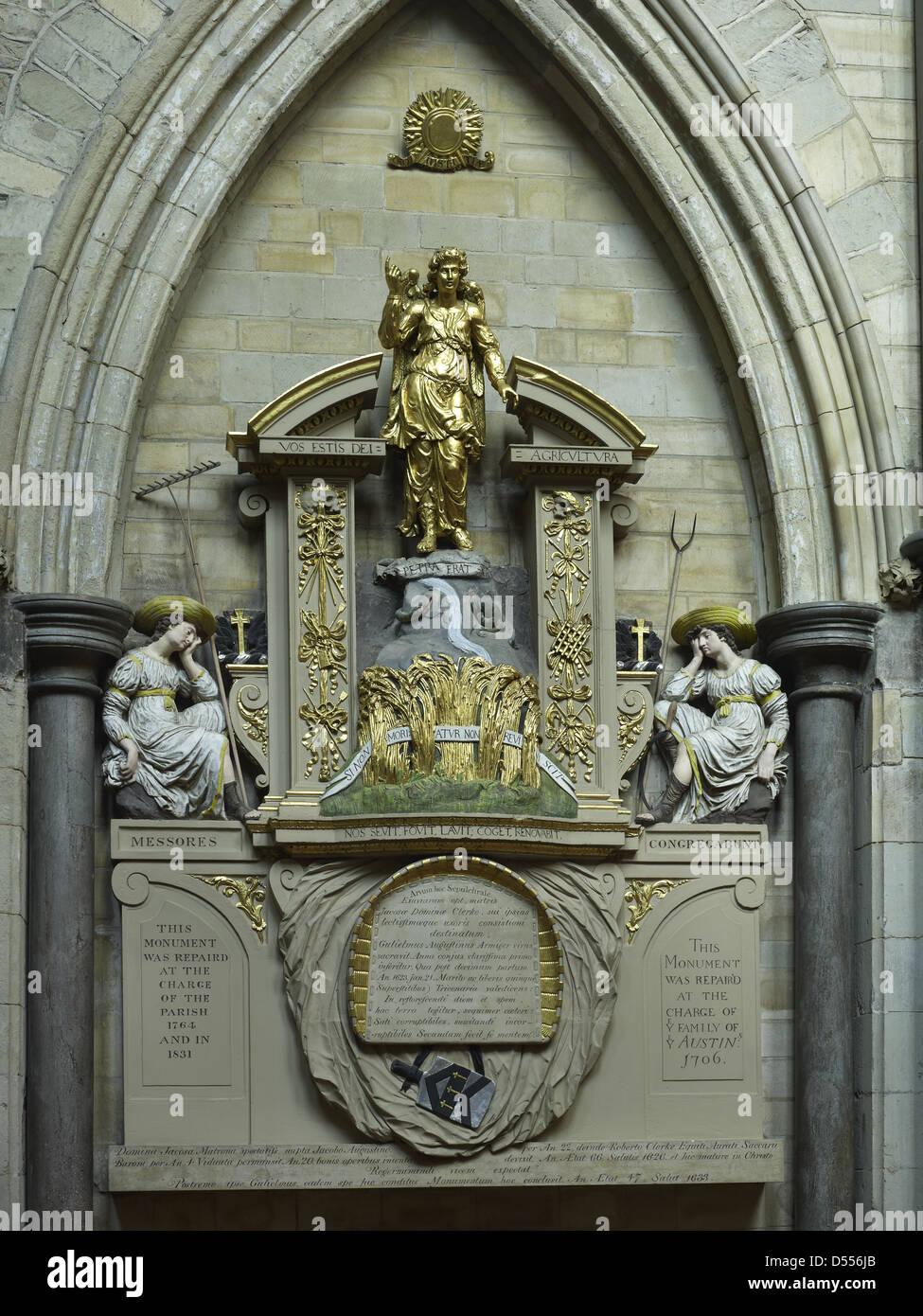 Southwark Cathedral Austin momemorial Stockbild