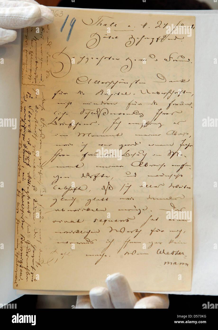 Ein Original Brief Von Theodor Fontane Gustav Karpeles Auf Einer