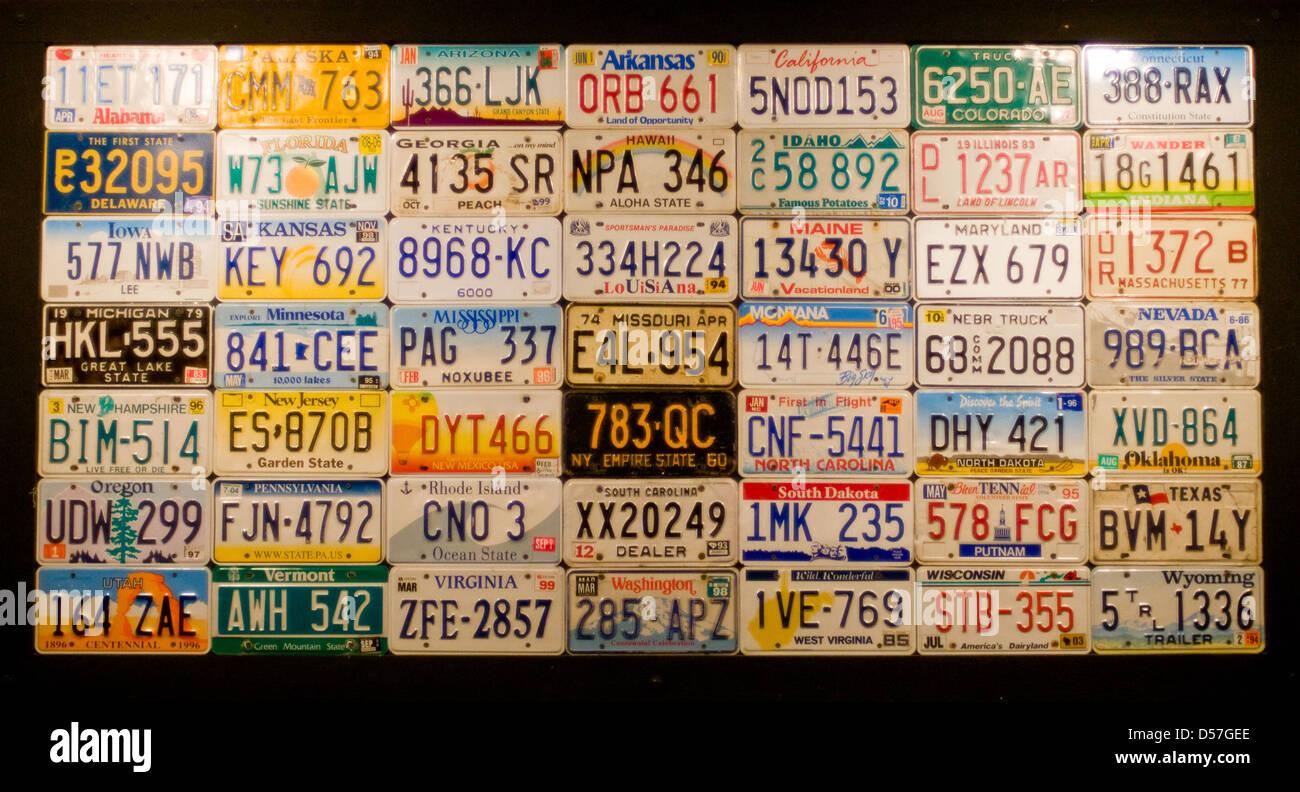 License Plates Stockfotos & License Plates Bilder - Alamy