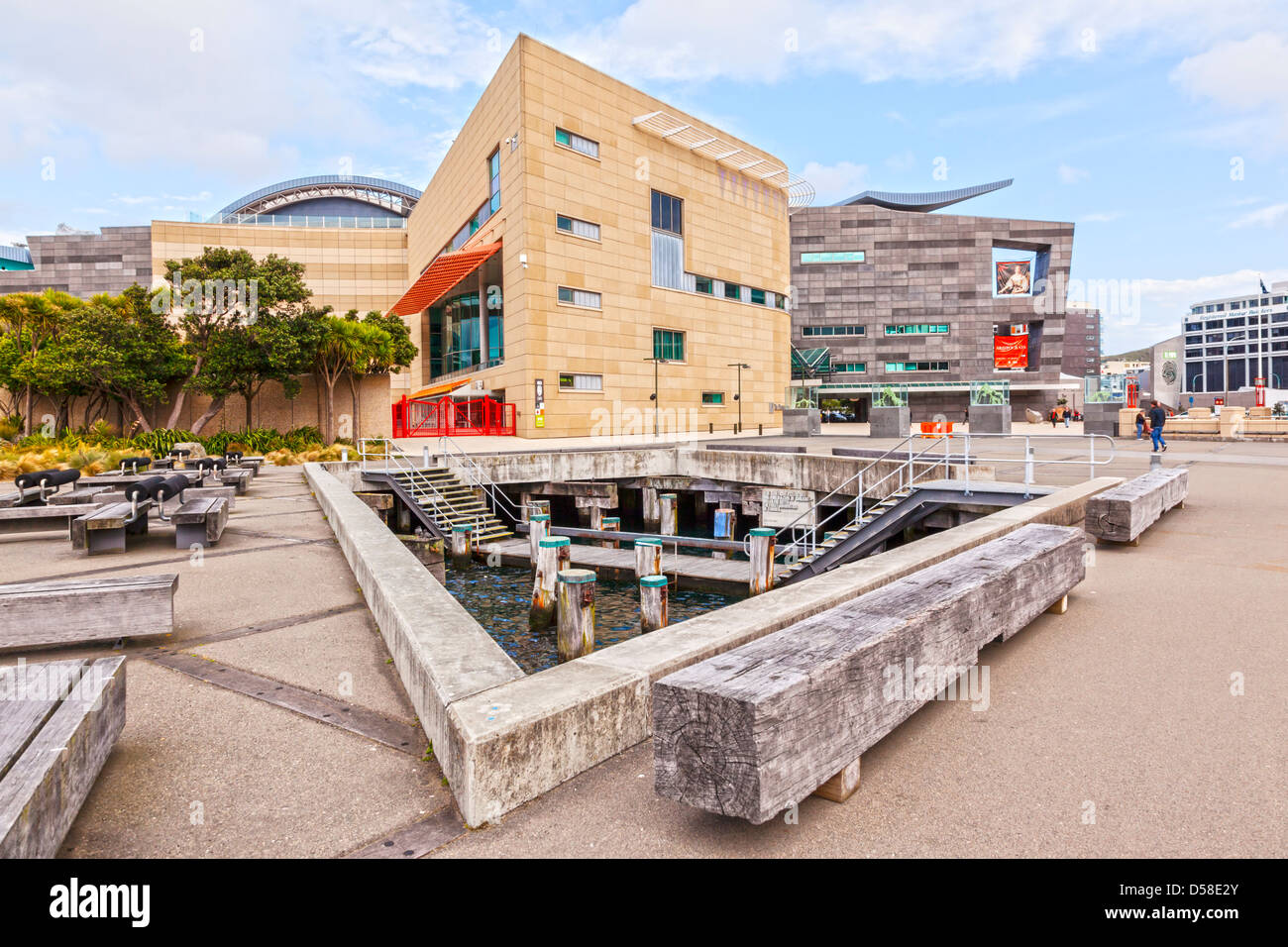 Te Papa Museum of New Zealand, Wellington. Stockbild