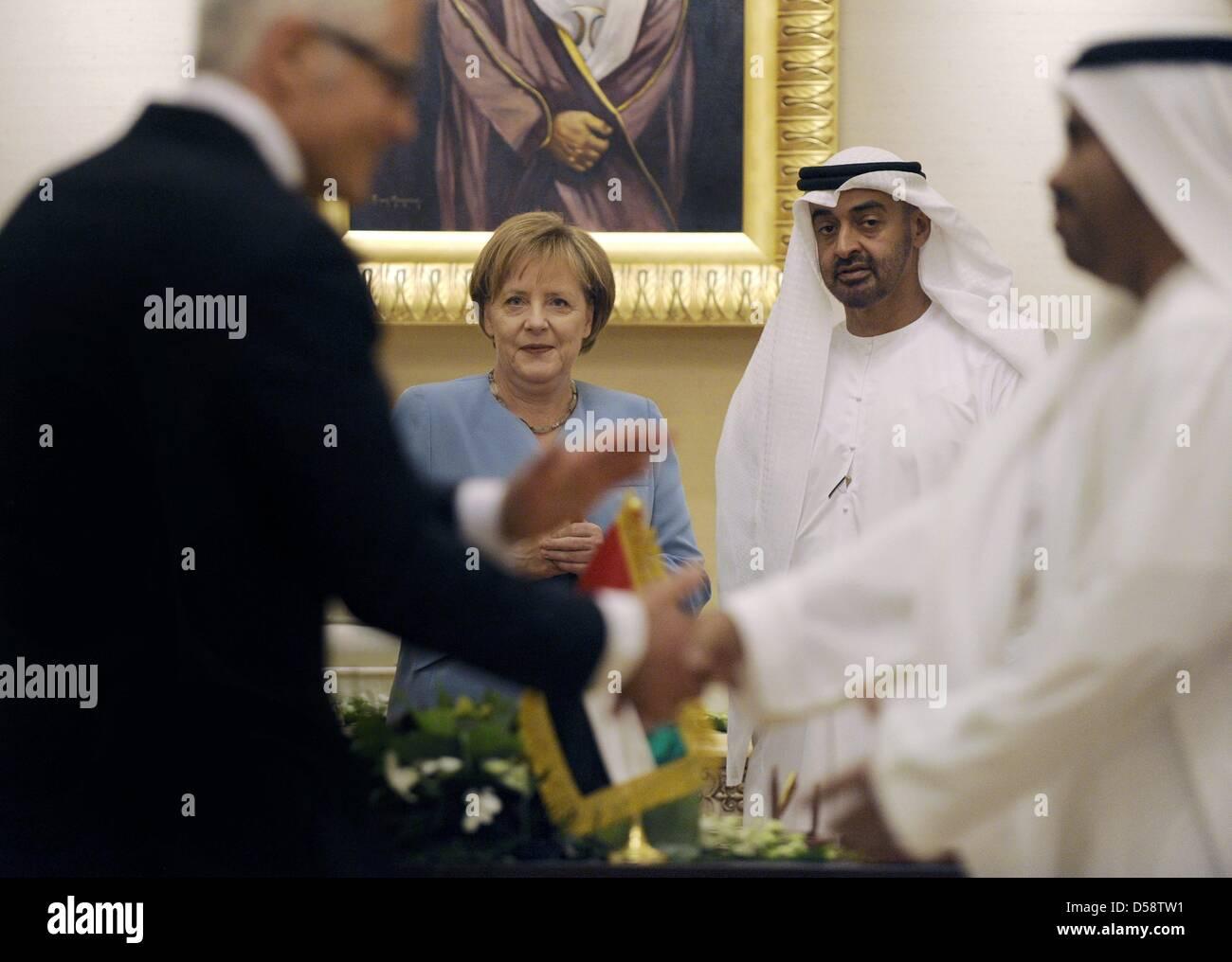 Die VAE Kronprinz und Vizepräsident Sheik Mohammed bin Said al ...