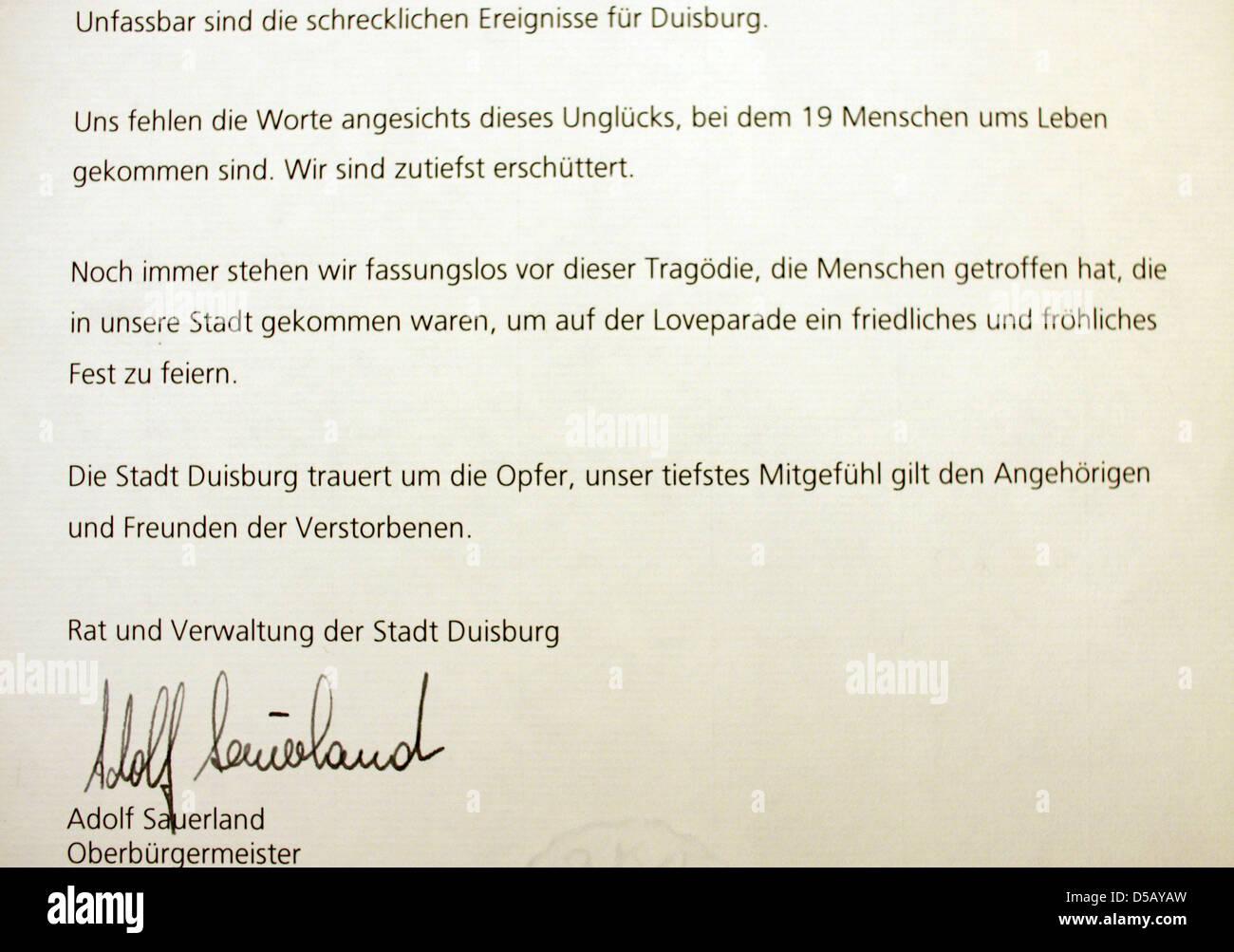 Outstanding Formal Kondolenzschreiben Ornament - FORTSETZUNG ...