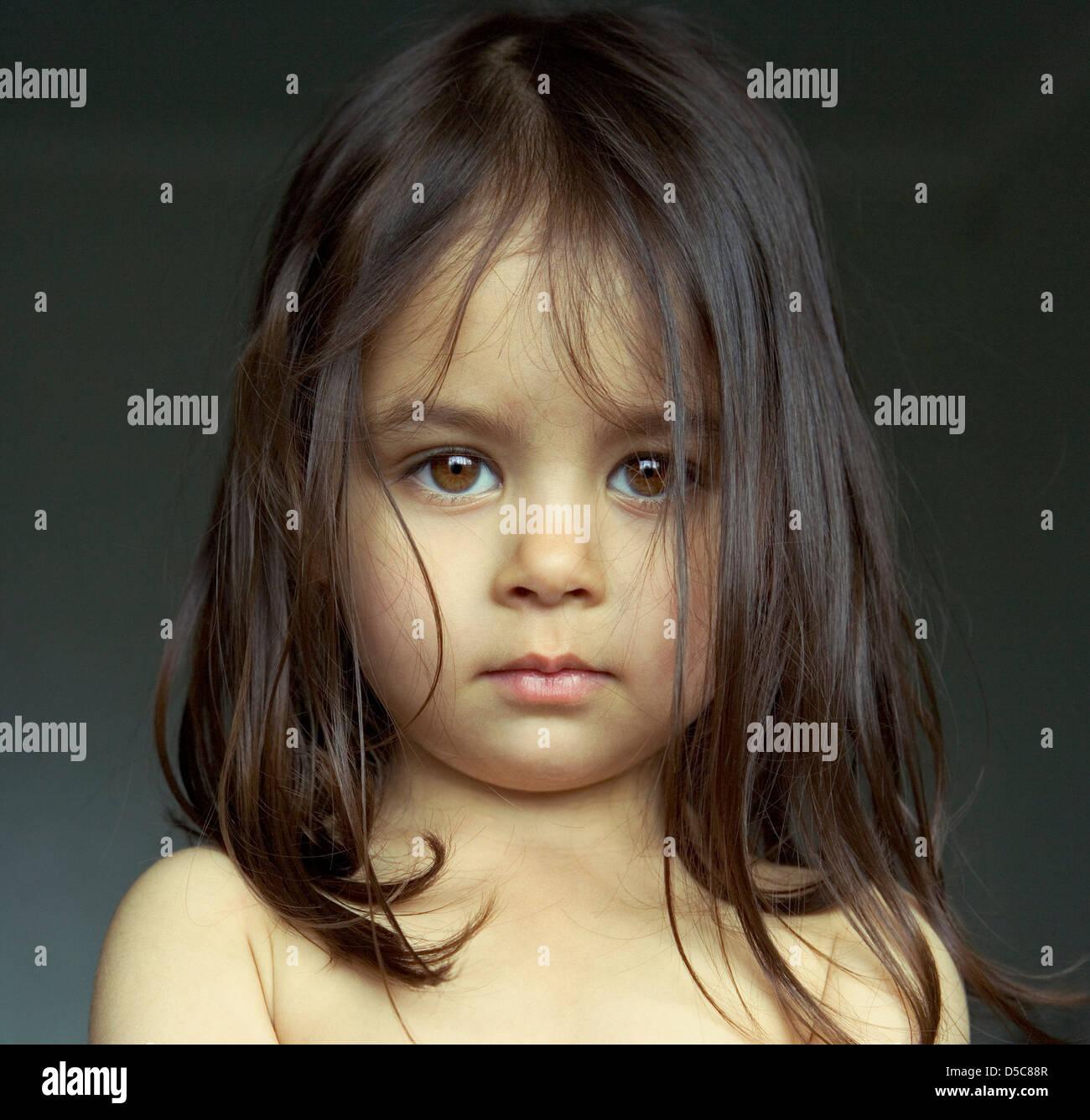 Porträt eines jungen Mädchens Stockbild