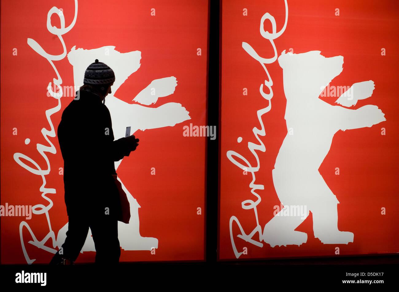 Berlin, Deutschland, Berlinale-Besucher Stockbild