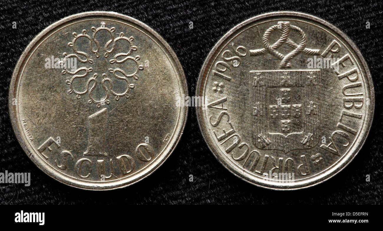 1 Escudo Münze Portugal 1896 Stockfoto Bild 55024137 Alamy