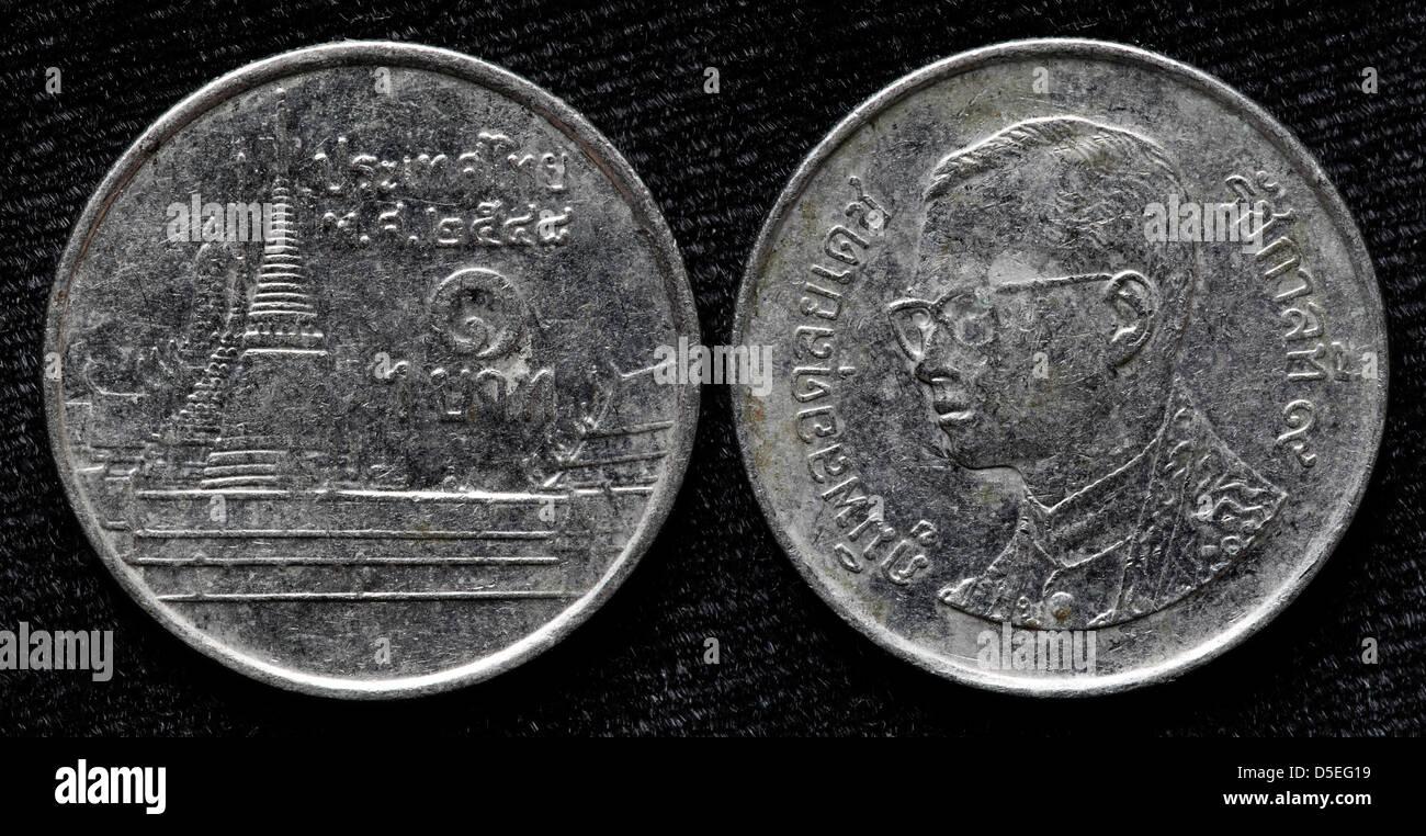 1 Baht Münze Thailand Stockfoto Bild 55024293 Alamy