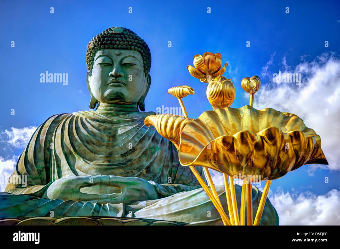 Großer Buddha von Hyogo in Kobe, Japan. Stockbild