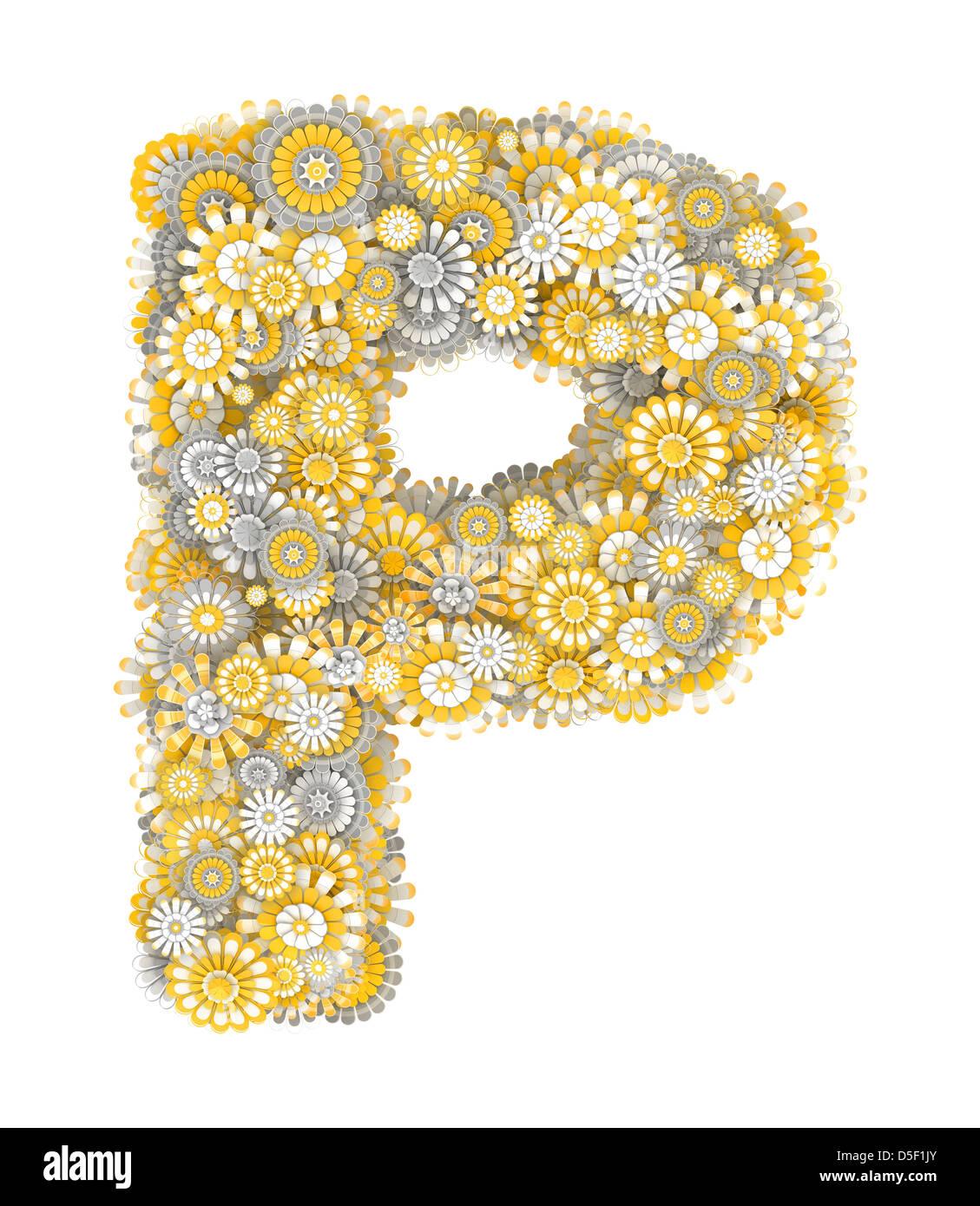 Alphabet Von Kamille Blumen Brief Form Stockfoto Bild 55034979