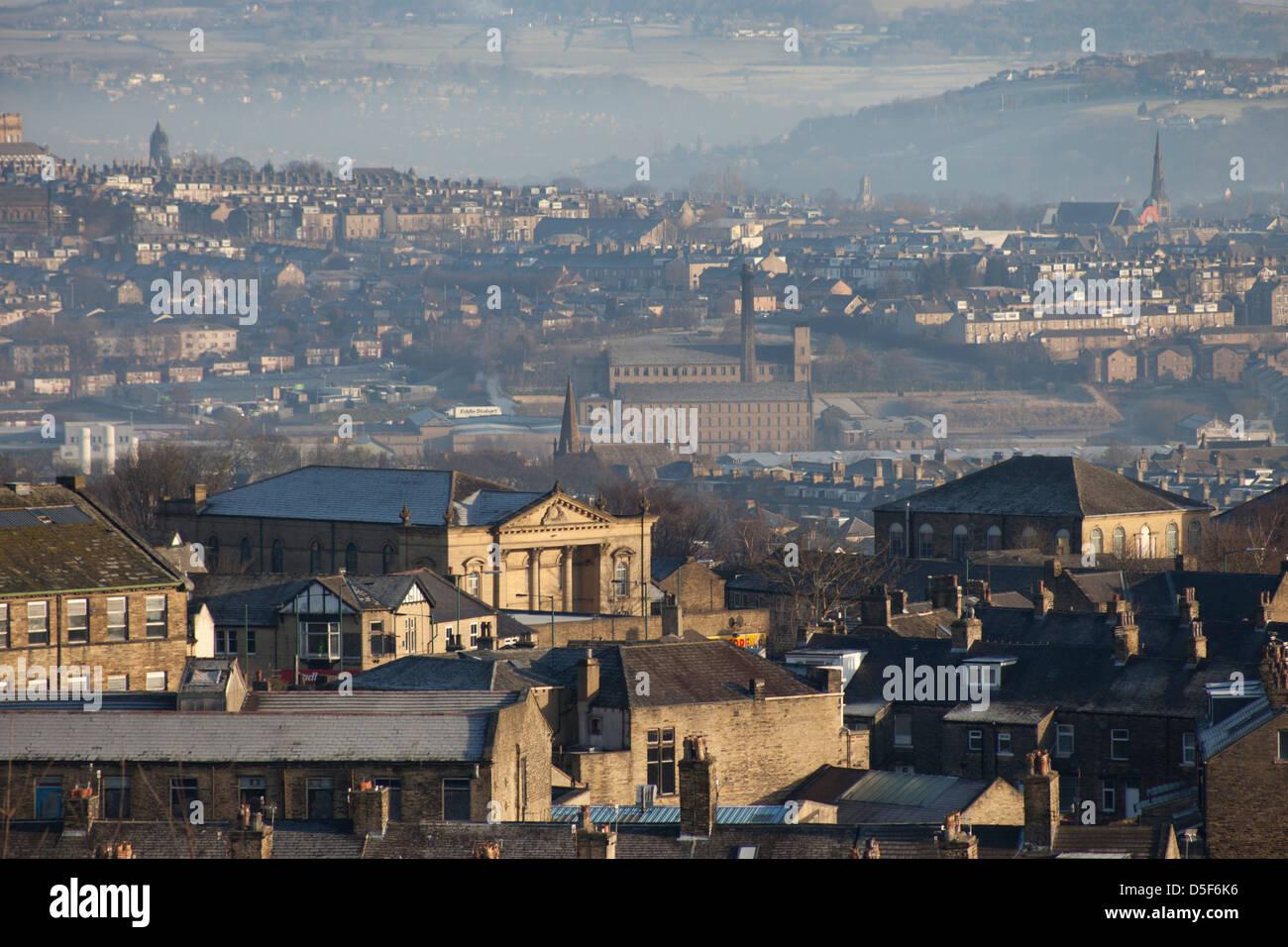 Bradford Dachlandschaft, Blick über die Stadt Stockfoto