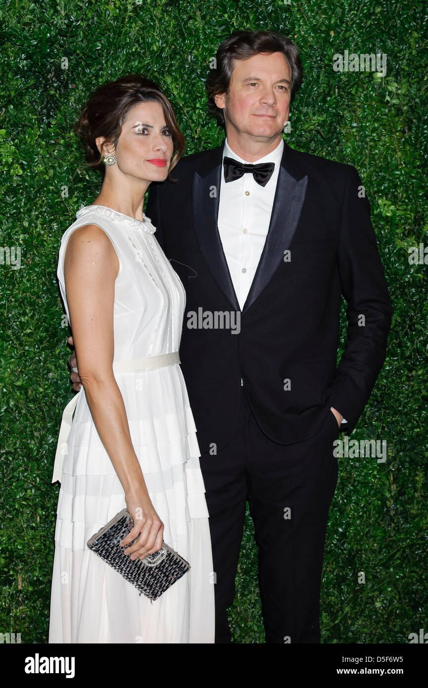 Livia Firth und Colin Firth bei der 58. London Evening Standard Theatre Awards gesehen. Stockbild