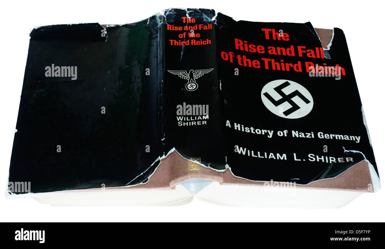 Aufstieg und Fall des Dritten Reiches durch William Shirer Stockbild