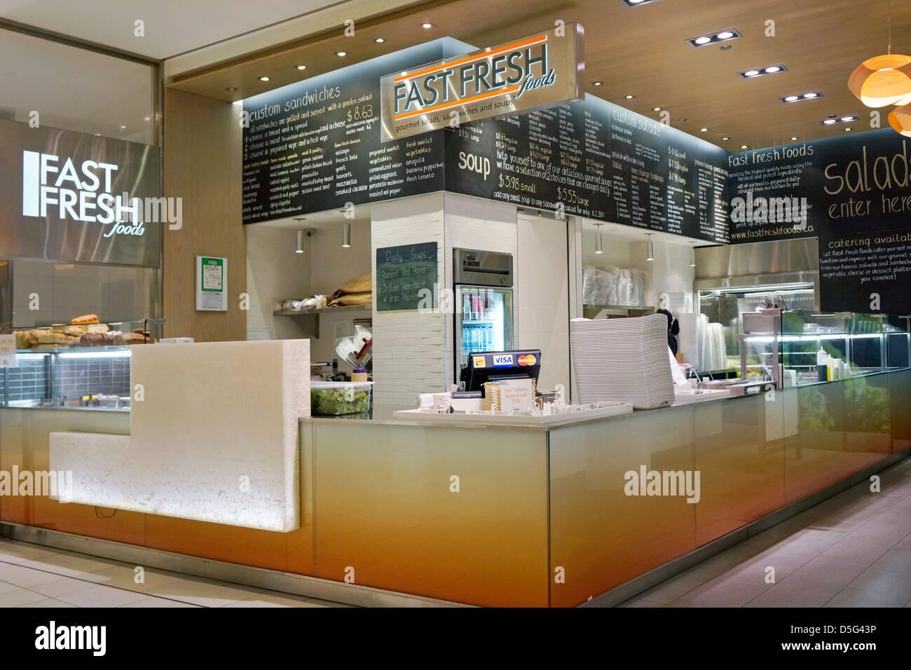 Schnell frische Lebensmittel-lokal, im Einkaufszentrum Stockbild