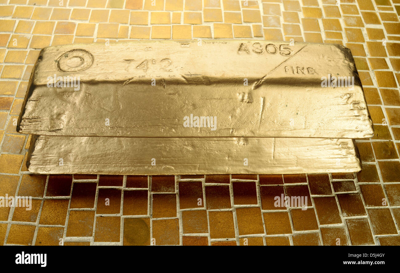 Goldbarren Stockbild