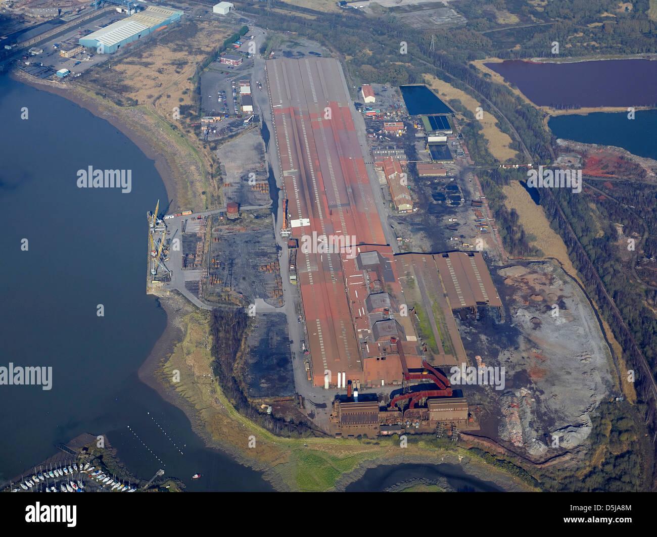 Stahlwerk Newport, South Wales Stockfoto