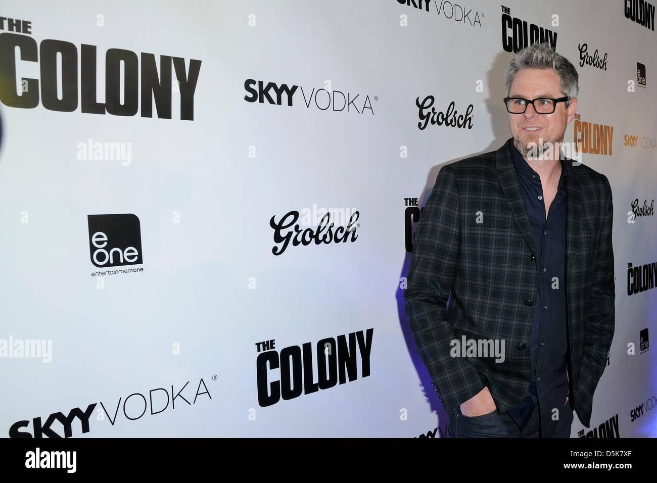 3. April 2013. Toronto, Kanada. Regisseur Jeff Renfroe kommt bei THE COLONY Weltpremiere am Scotiabank Theater in Stockbild