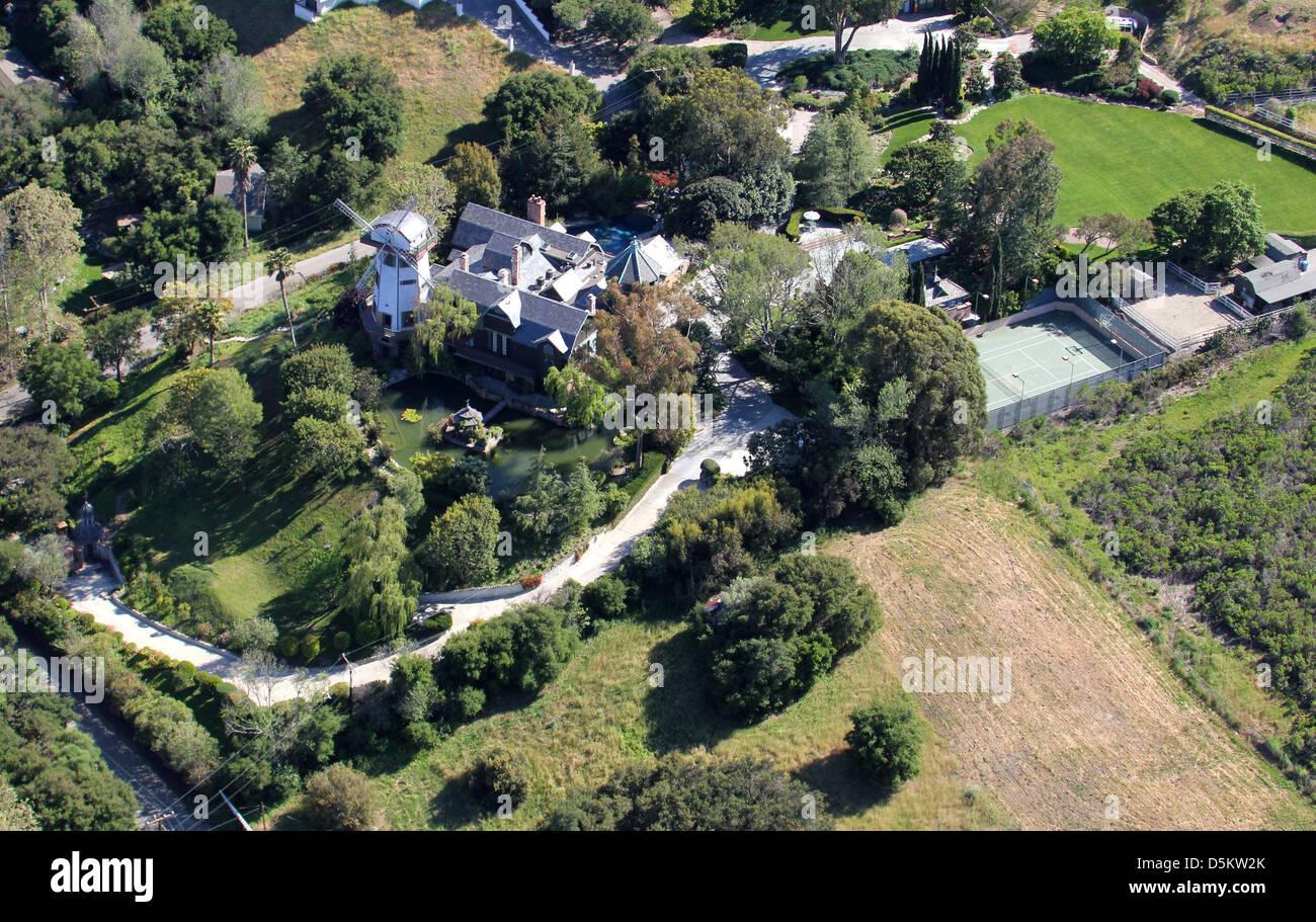 Luftbild von Gottschalk Windmühle und Haus in Malibu Los