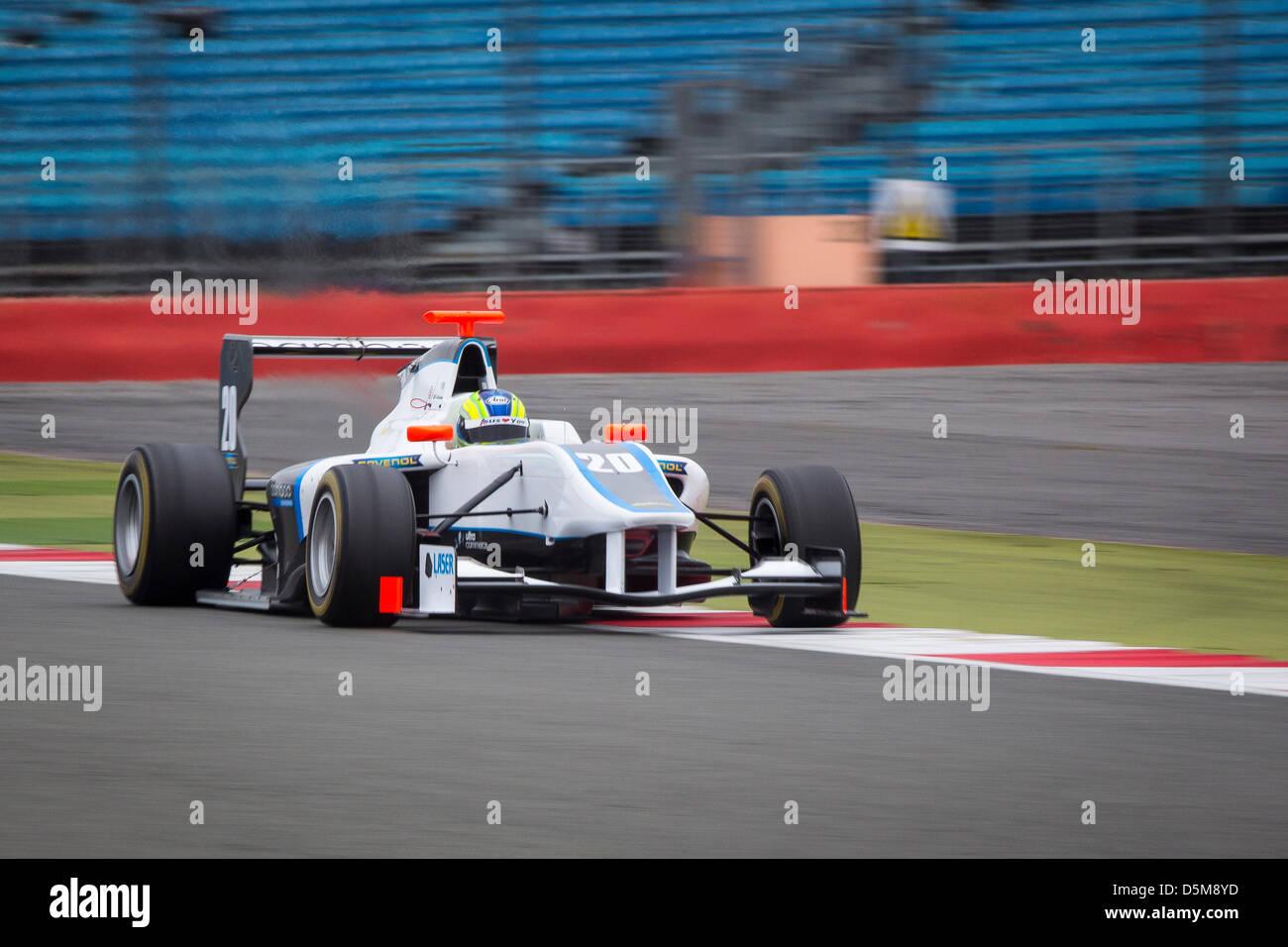 GP3 GP3Series Silverstone Test Rennsport Motorsport Auto Rennwagen verfolgen Northampton, england Stockbild