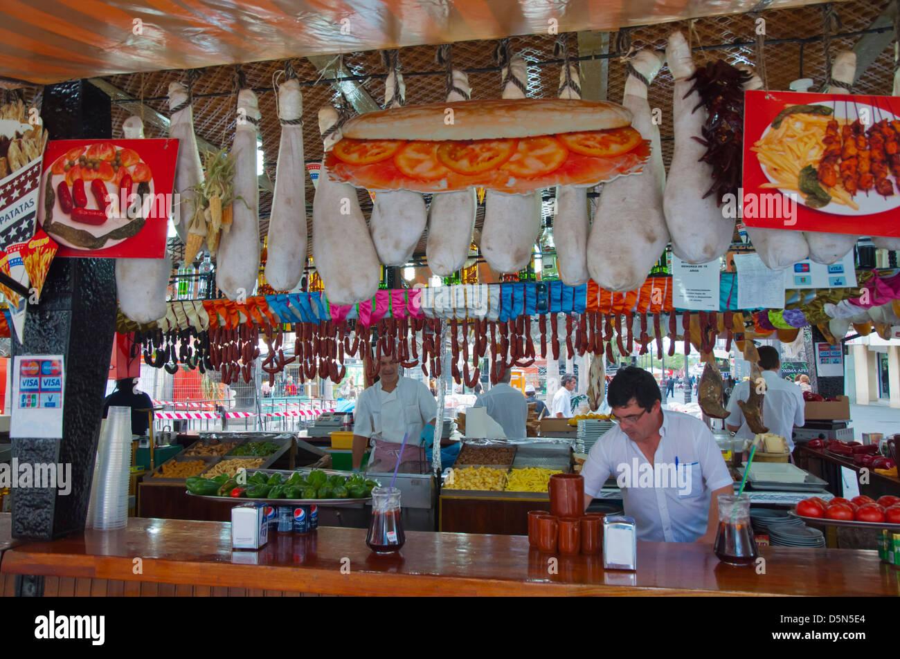 Garküche am Plaza De La Candelaria quadratischen zentralen Santa Cruz Stadtinsel Teneriffa Kanarische Inseln Stockbild