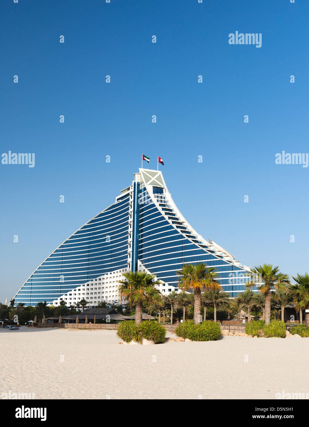 Luxus Jumeirah Beach Hotel in Dubai Vereinigte Arabische Emirate Stockbild