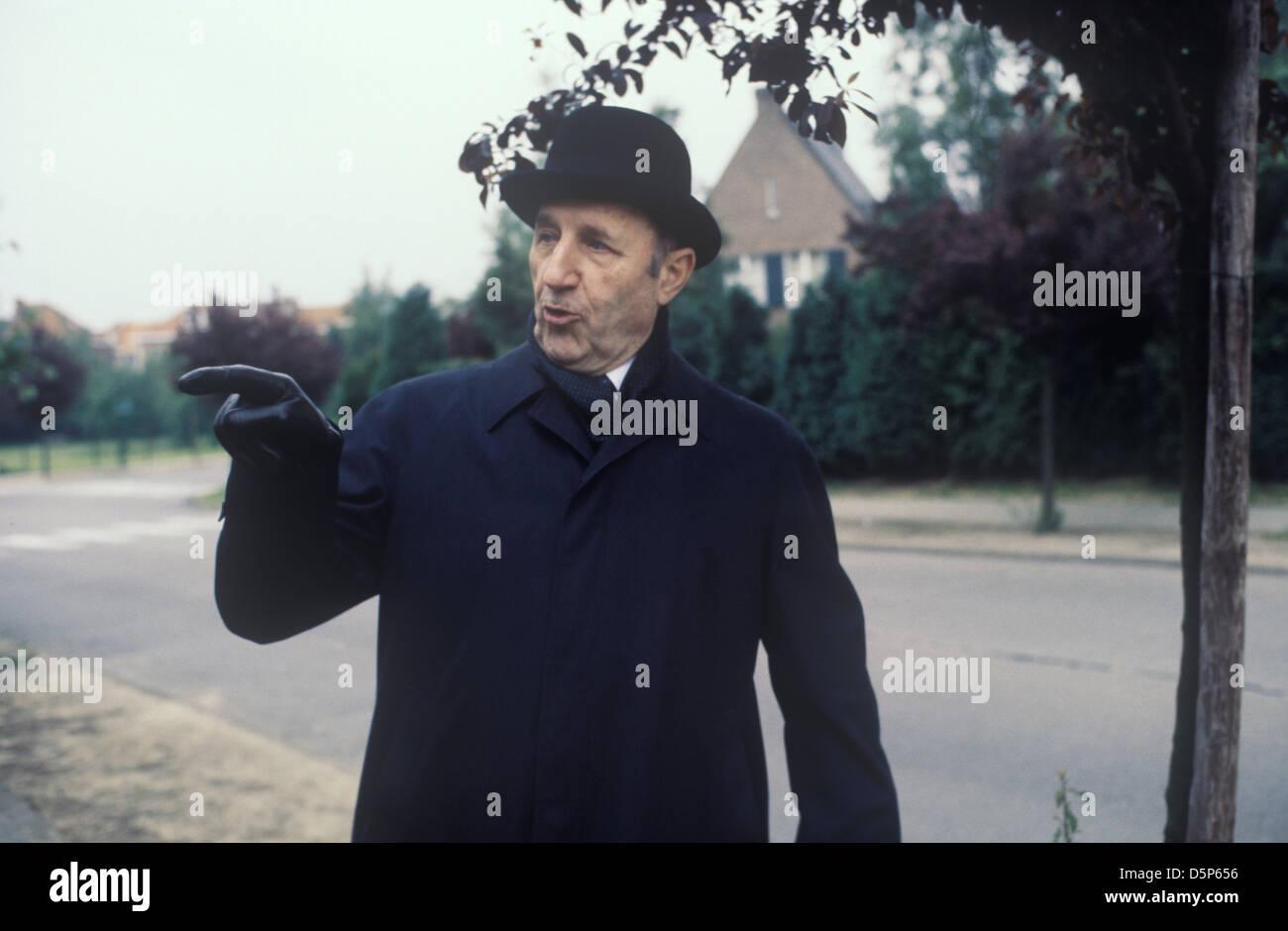 Joseph Luns Generalsekretär der NATO Brüssel Belgien 1978 1970 s HOMER SYKES Stockbild