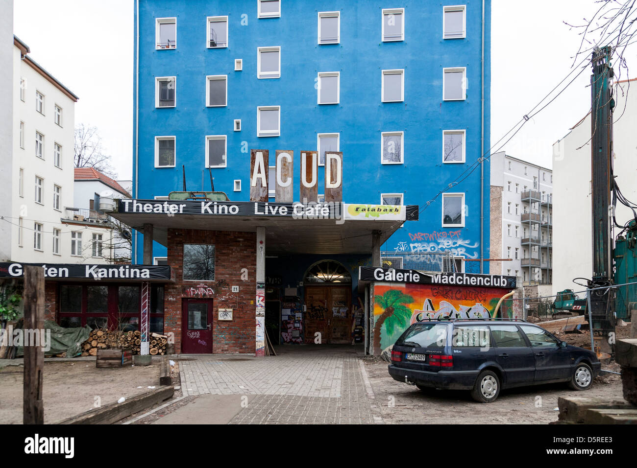 ACUD alternativer Kunstverein in Berlin Stockbild
