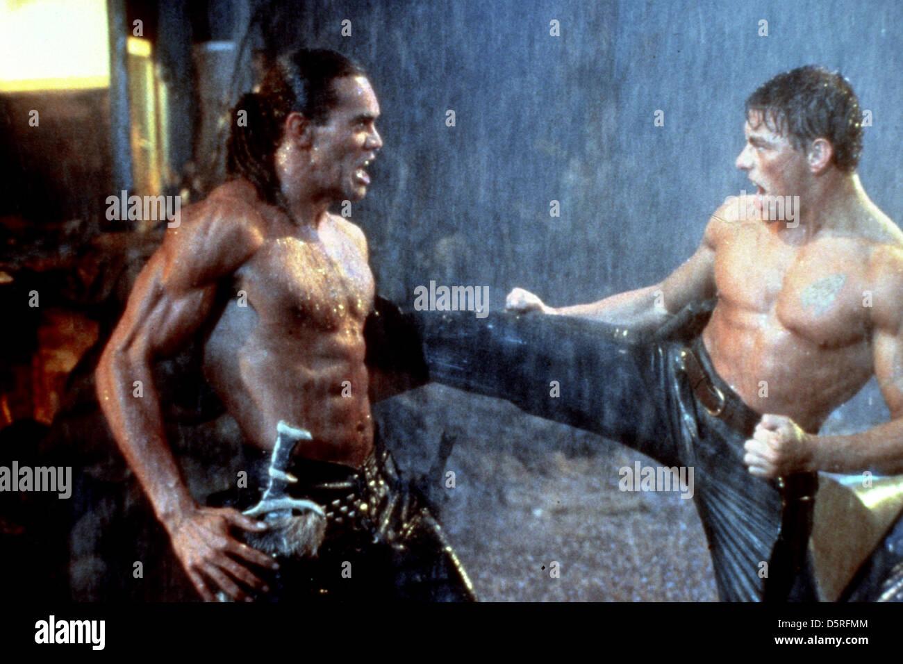 Vincent Klyn Jean Claude Van Damme Cyborg 1989 Stockfoto Bild