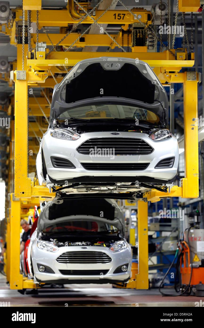 Ford Fiesta-Produktion am Fließband, Werk Köln, Deutschland Stockbild