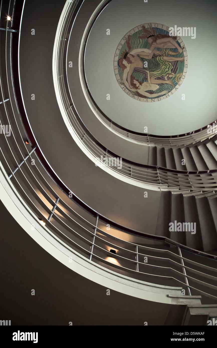 Midland Hotel, Morecambe, Lancashire, Großbritannien, Art Deco, Foyer,  Treppenhaus