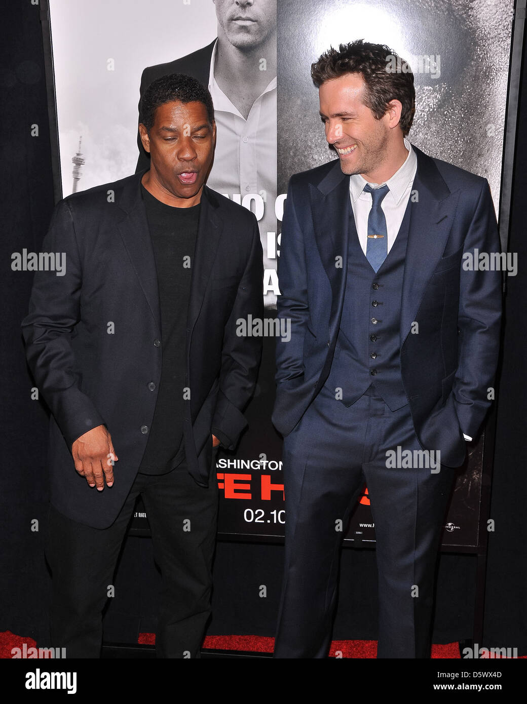Denzel Washington Ryan Reynolds New Yorker Premiere Von Safe House