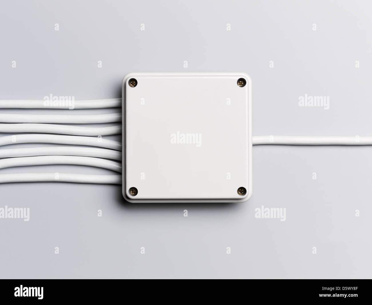 Kabel vom Schaltkasten Stockbild
