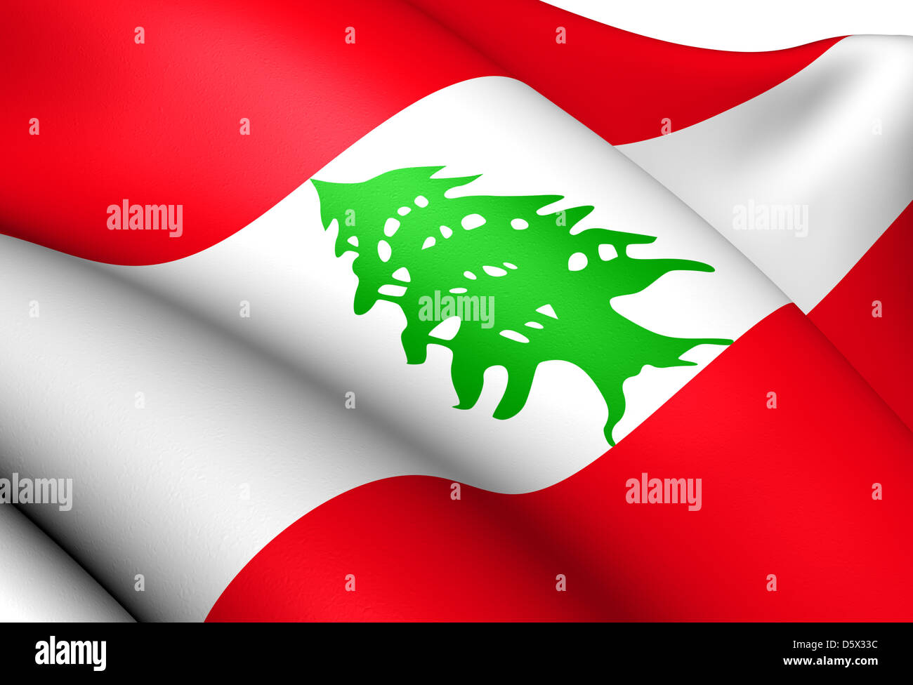 flagge des libanon hautnah stockfoto bild 55277584 alamy. Black Bedroom Furniture Sets. Home Design Ideas