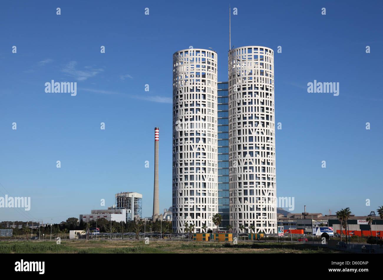 Modernen Büroturm in Algeciras, Provinz Cádiz, Andalusien Spanien Stockbild