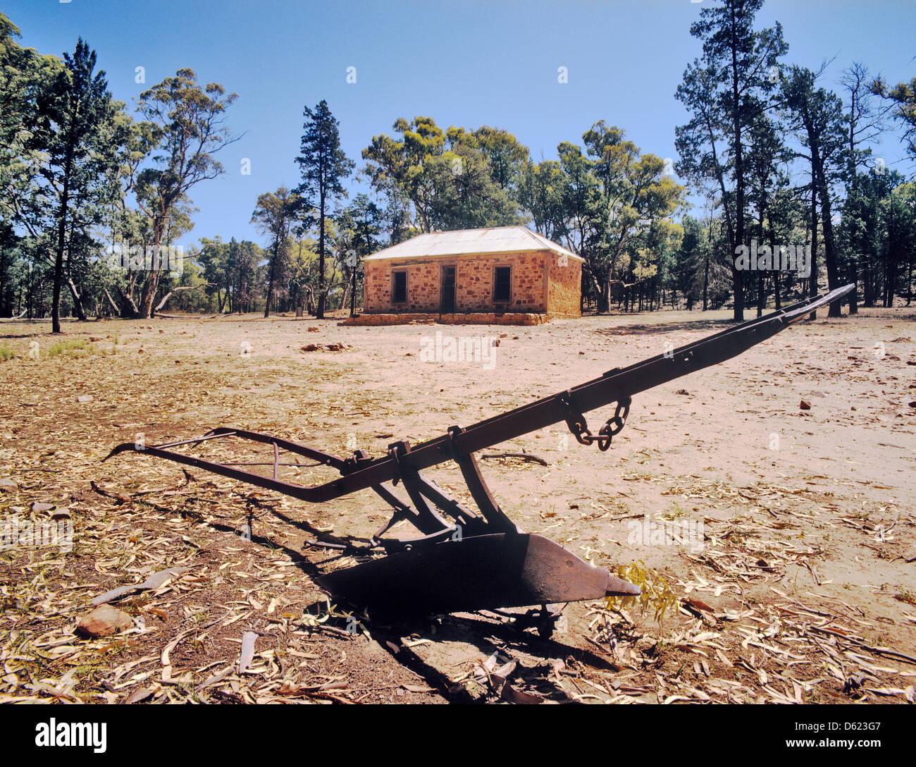 Australien, South Australia, Flinders Ranges, Wilpena Pound, das alte Gehöft in Wilpena Pound Stockbild