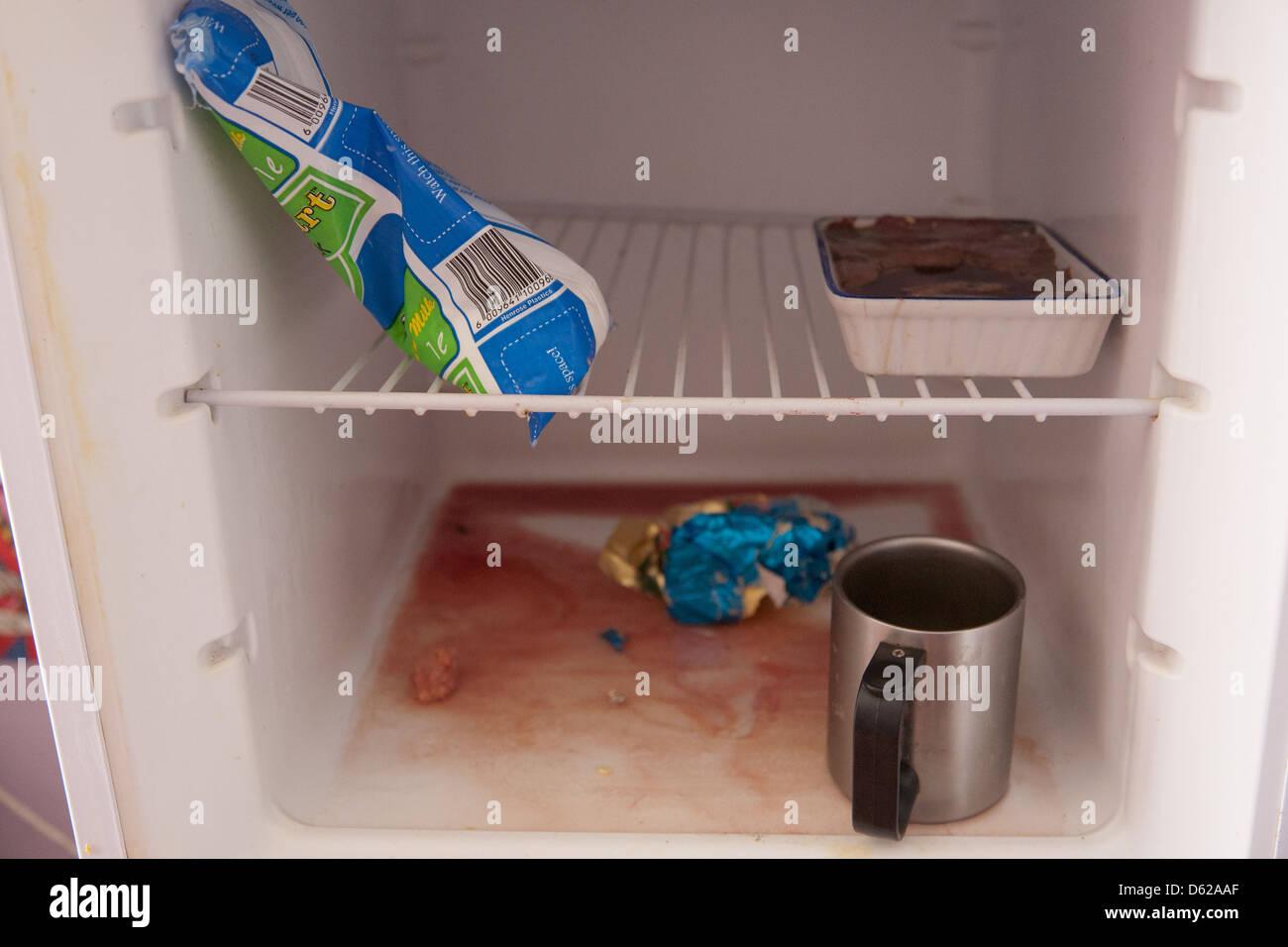 Kühlschrank Desinfektion : Verdorbene lebensmittel in einem unhygienischen kühlschrank
