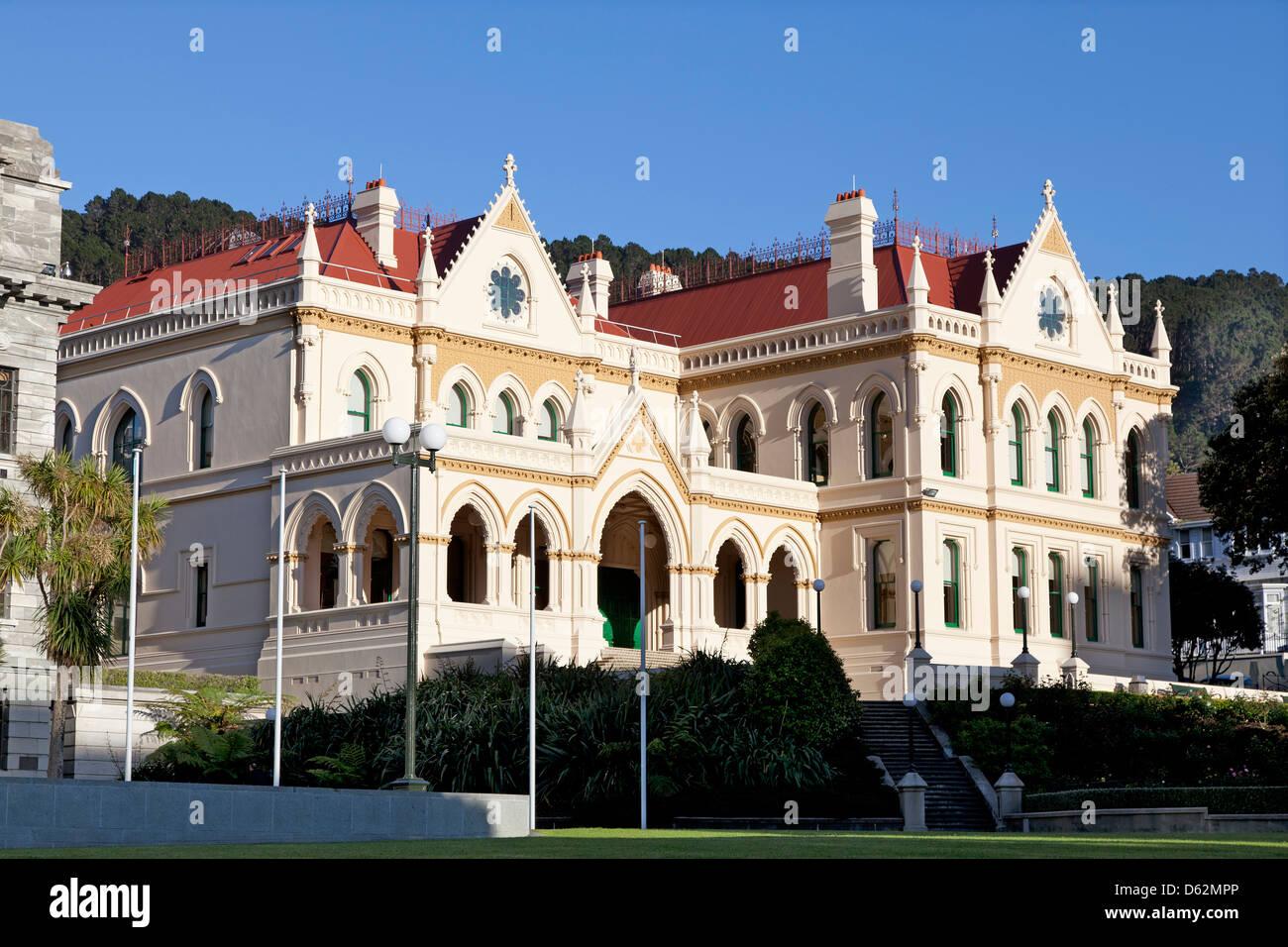 Alten Regierungsgebäude in Wellington, Neuseeland Stockbild