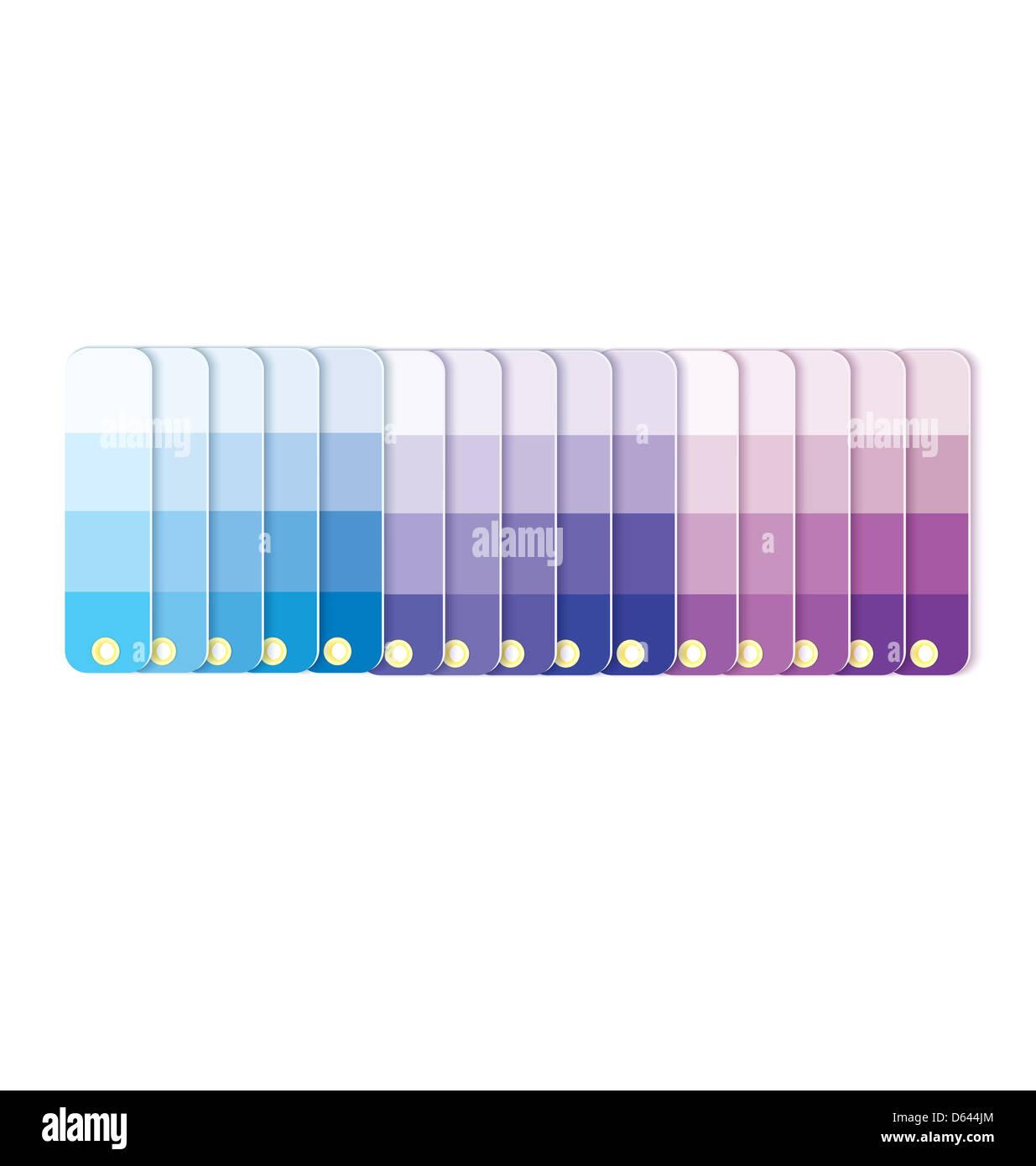 Farbfelder mit Tönungen in Zeilenvektor Stockbild
