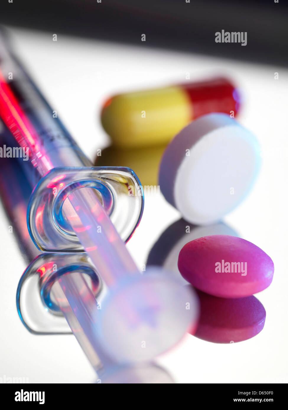 Medikamente Stockfoto