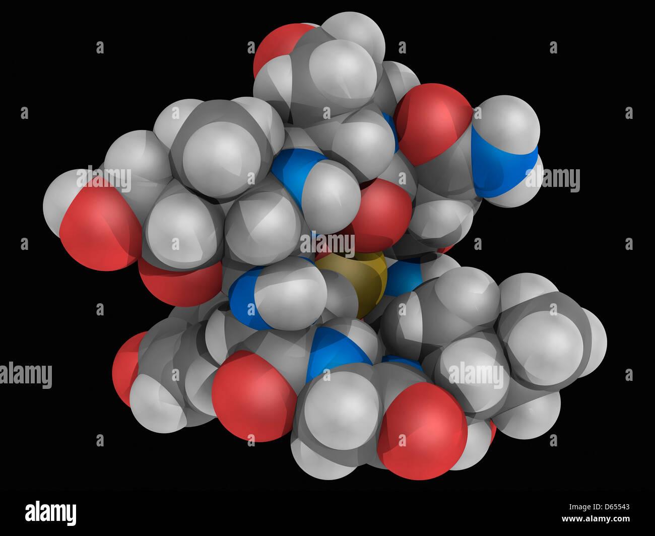 Alpha-Amanitin Toxin Molekül Stockbild