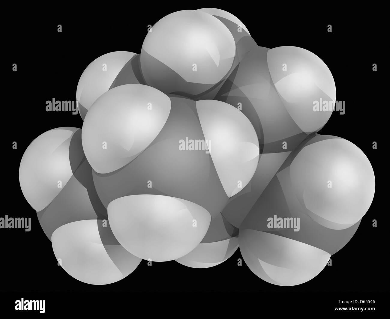 Alpha-Pinen Molekül Stockbild