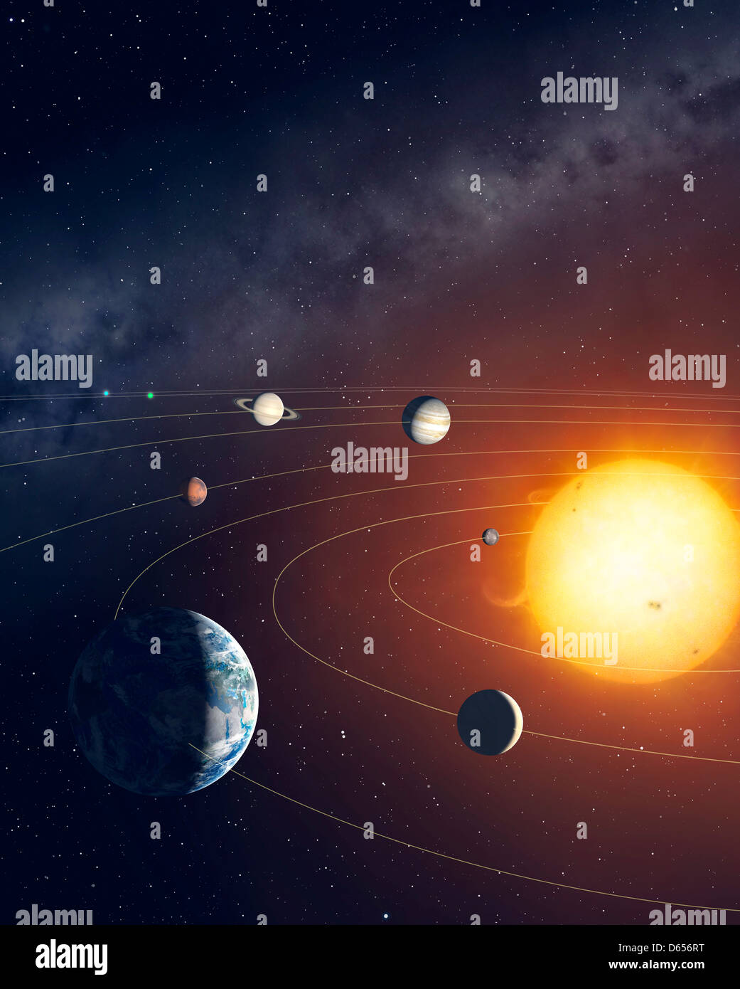 solar system sun planets stockfotos solar system sun planets bilder alamy. Black Bedroom Furniture Sets. Home Design Ideas