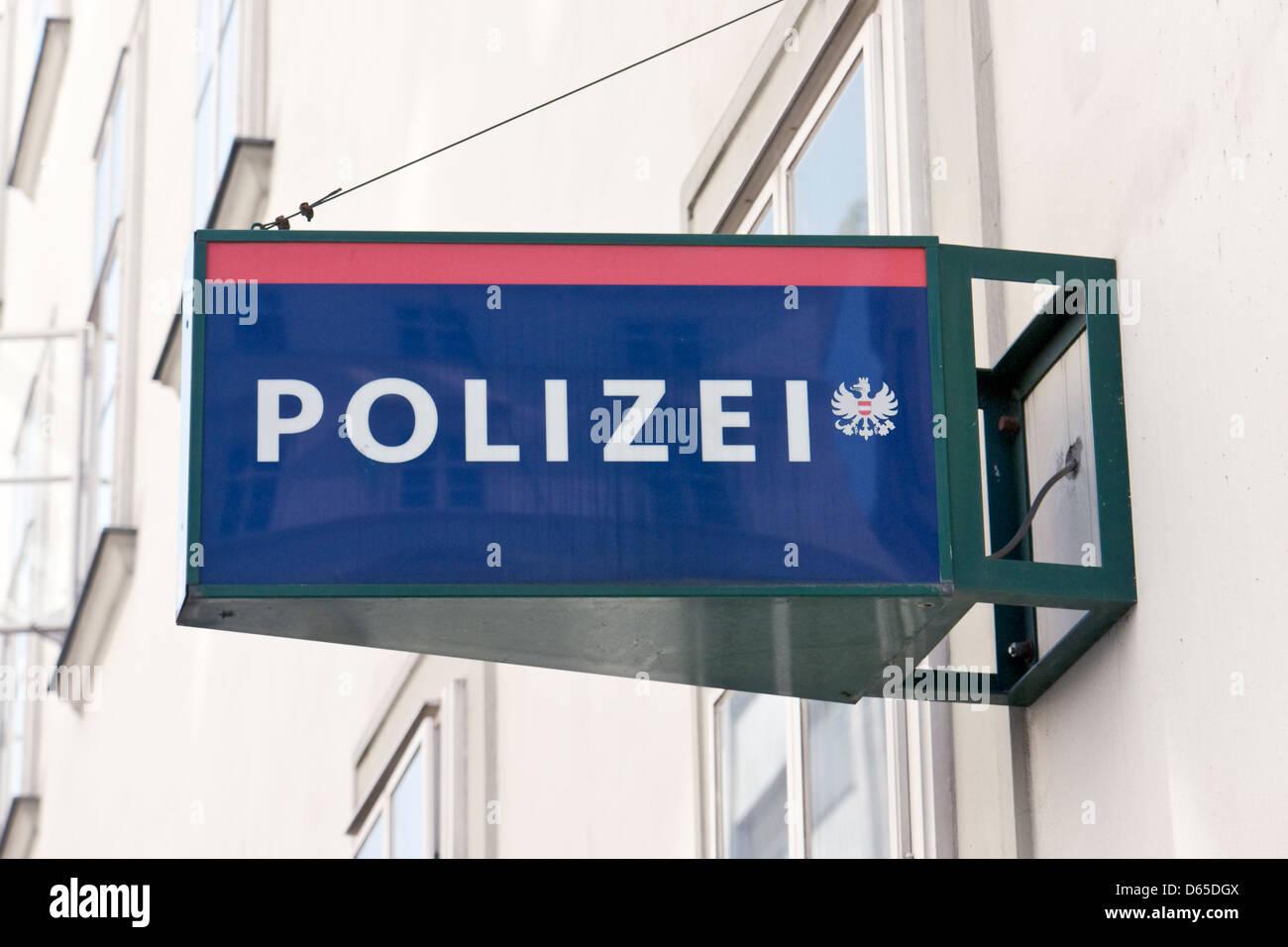 Zeichen der österreichischen Bundespolizei Stockbild
