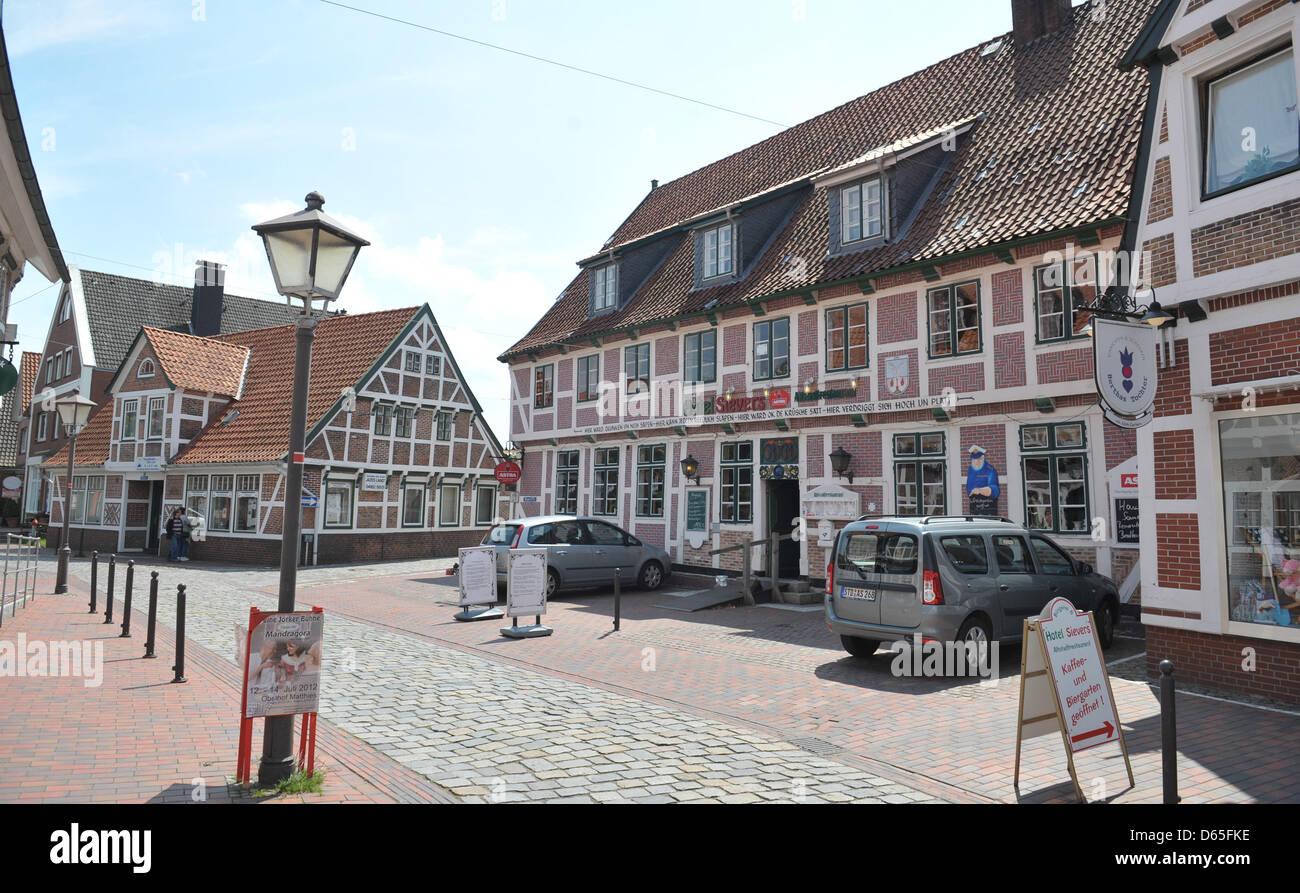 Holz sind Rahmen Häuser in Jork, Deutschland, 19. Juni 2012 ...