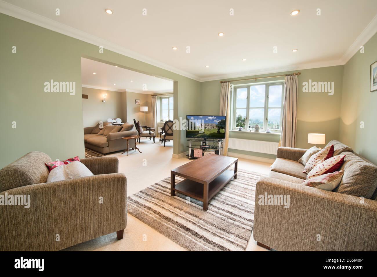 Ein gemütliches Wohnzimmer Stockbild