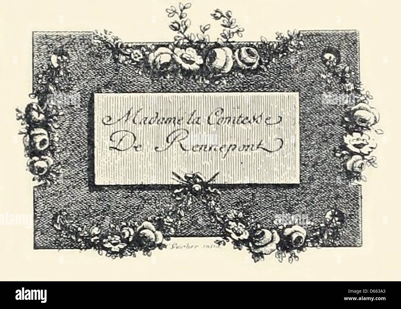 Carte De Visite La Comtesse Rennepont