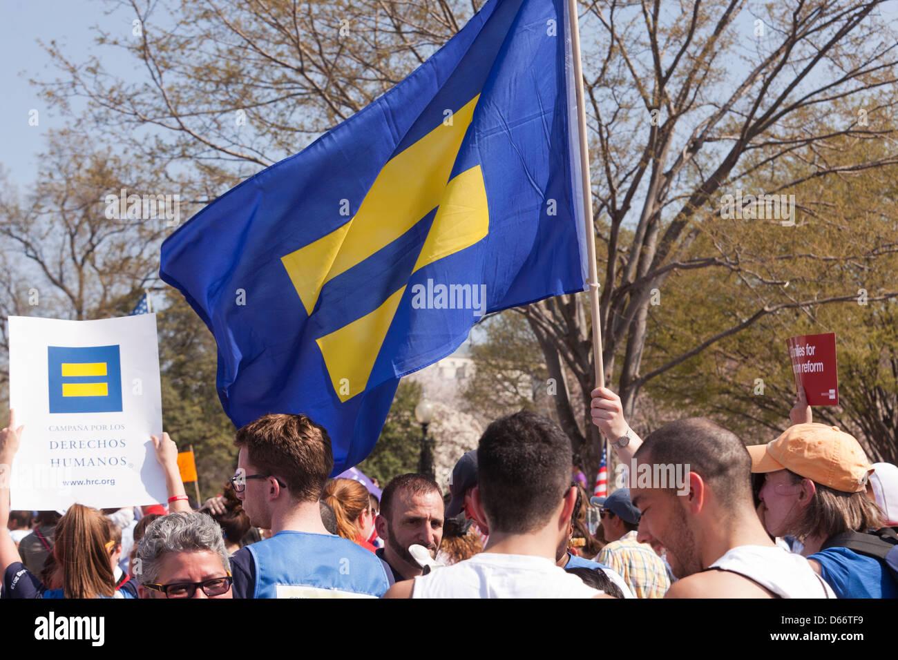 Der Geschlechter Symbol Flagge in Menge Stockbild
